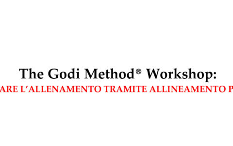 The Godi Method® Workshop for the first time in Italy!
